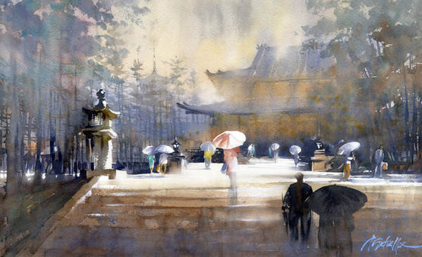 People and umbrellas By Thomas Schaller