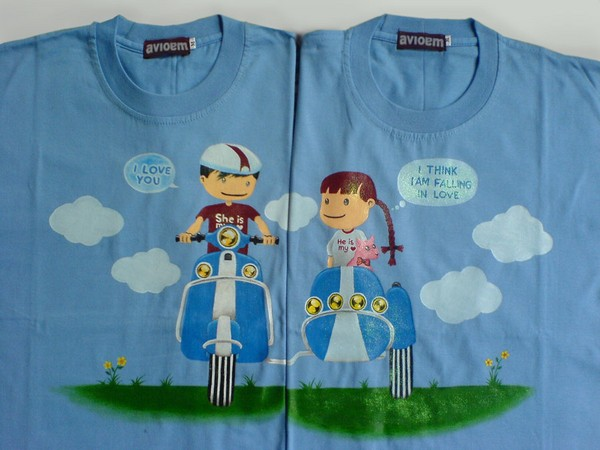 Couple Shirts Couple t Shirt by Vioem