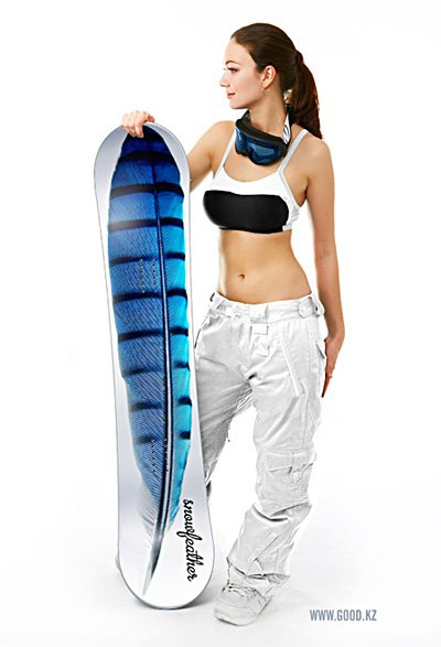 Snowfeather Snowboard by Good.KZ