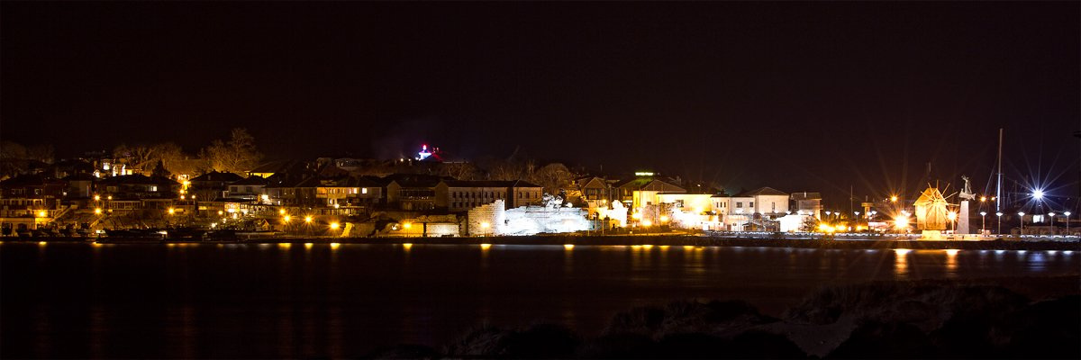 Nessebar - A harmony of ancient beauty and modern life, night lights