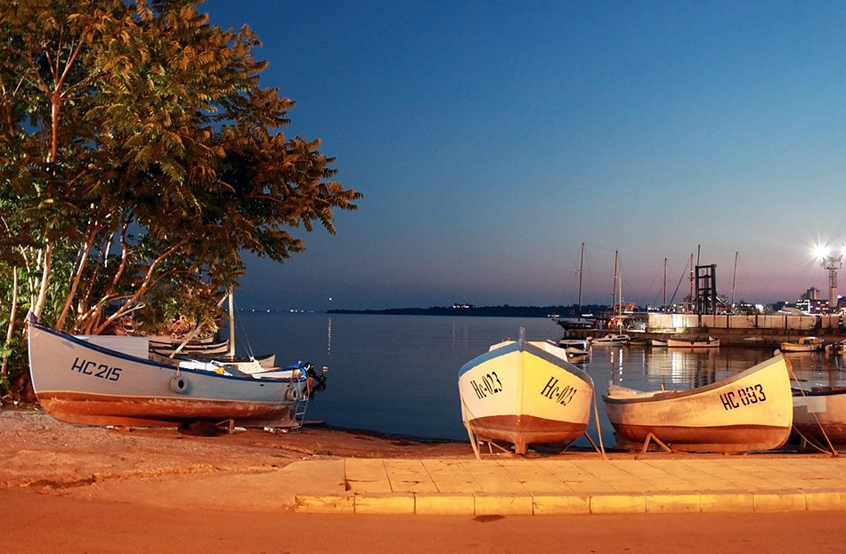 Nessebar - A harmony of ancient beauty and modern life, sunset boats