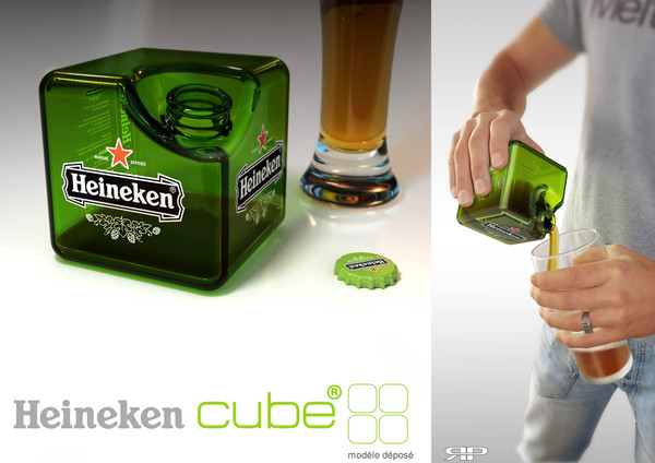 Pour it, enjoy it. Heineken straight from the Cube.