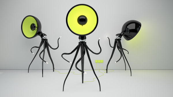 "The ""Octopussy"" Floor Lamp"