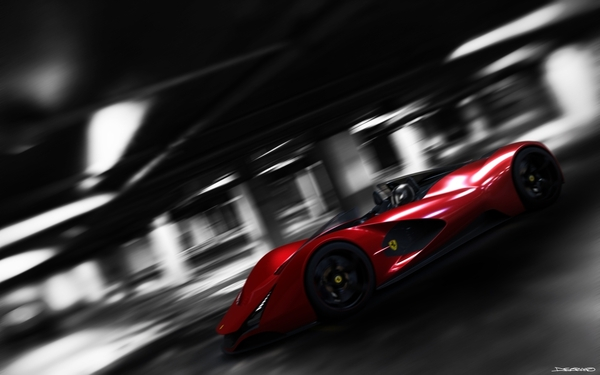 The Ferrari Aliante in action