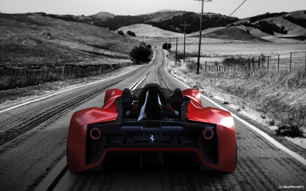 The Ferrari Aliante - From The Back
