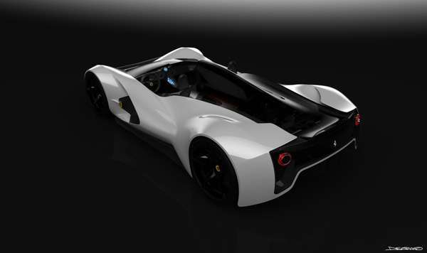 The Ferrari Aliante - in White