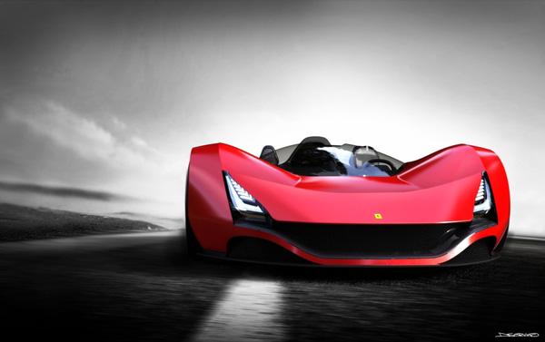 Ferrari Aliante Concept Design (Scarlet/Red)