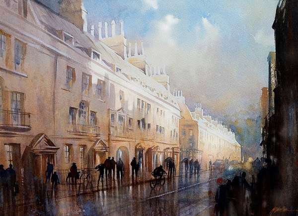 In a drizzly street. By Thomas Schaller