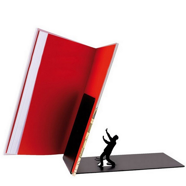 Falling Books Metal Bookend