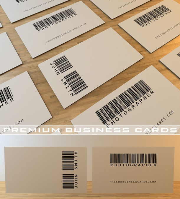 Barcode design by freshbusinesscards