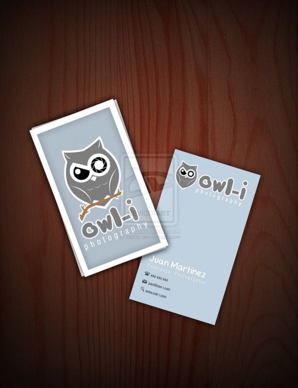 Owl cards (design by desigg.com)