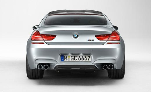 Rear view of the M6 Gran Coupe.