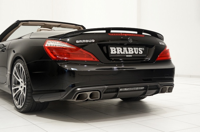 Deflector and tailpipes - Brabus 800 Roadster