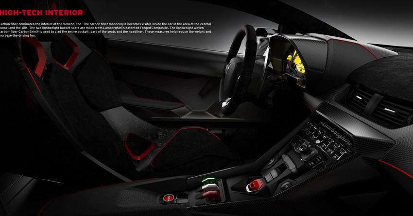 Carbon fiber interior - Lamborghini Veneno