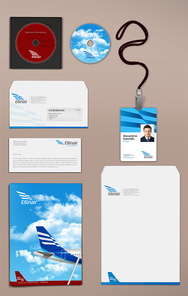 Ellinair - Airline brand by Johny Kostidis