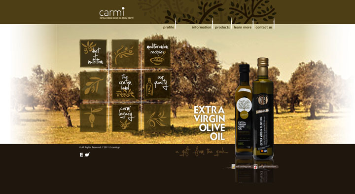 Packaging for Carmi Olive Oil by Sereal Designers