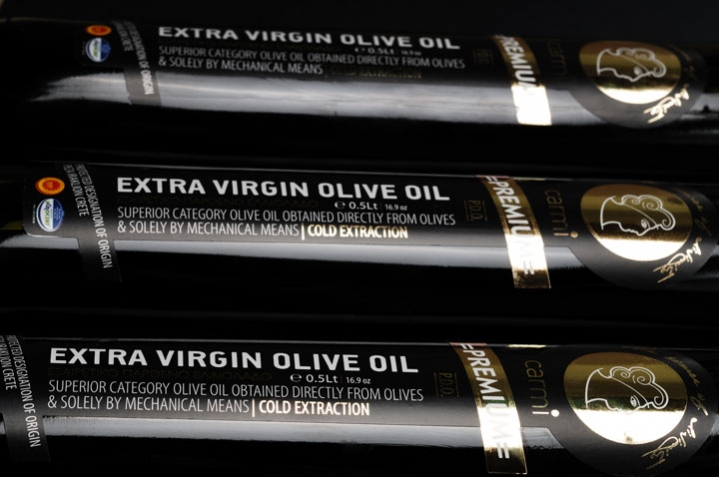 A closer look at the label - Carmi Olive Oil