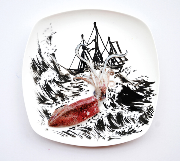 "Hong Yi's ""Creativity with Food Series"" - A Take on Squid"