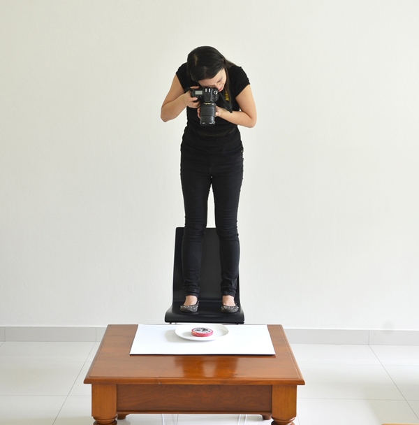 Taking photographs of the final product - Hong Yi