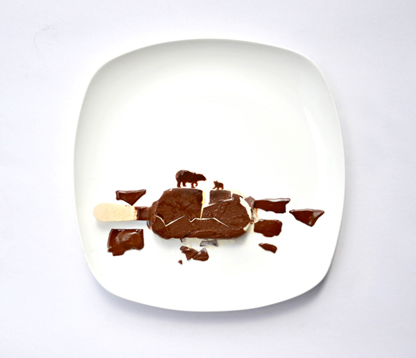 A chocolate ice cream bar depicting a glimpse of farm life - Hong Yi