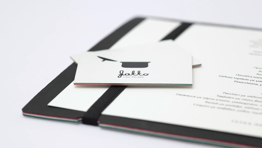Even on business cards - Fatto Cibo Italiano