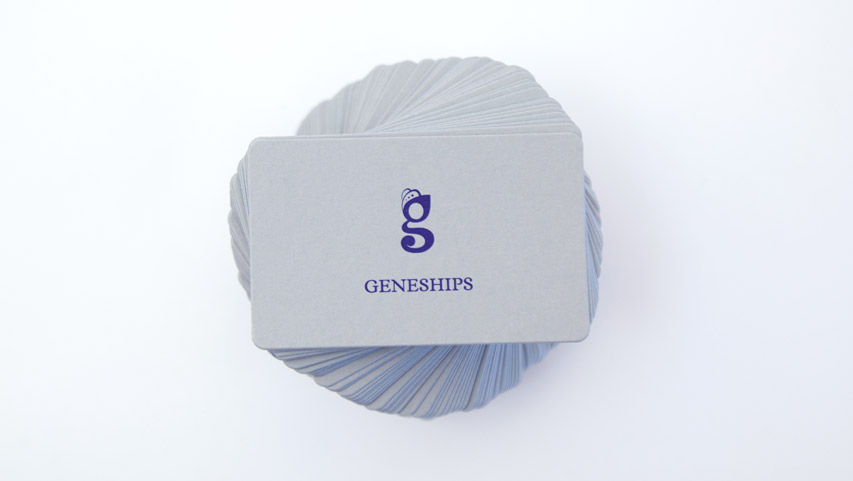 "The distinctive ""g"" on business cards - Geneships"