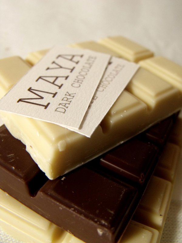Maya Chocolate - dark and white.