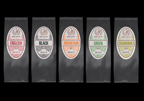 Packaging for other coffee variants by Metrio Coffee.