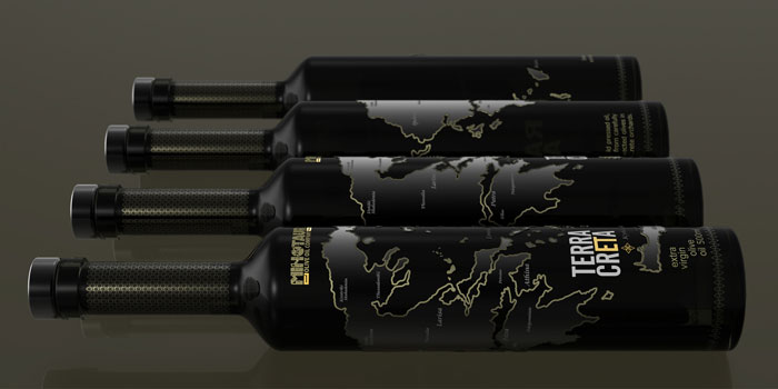 Bottle design for Terra Creta Extra Virgin Olive Oil