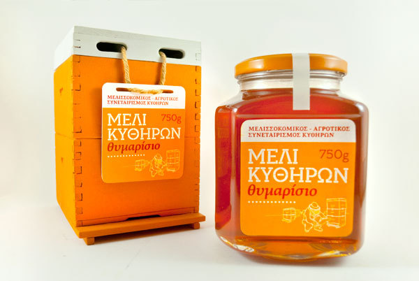 Packaging of Thyme Honey from Kythera