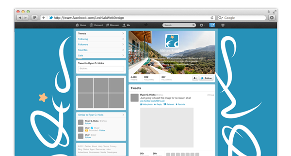 Twitter page.