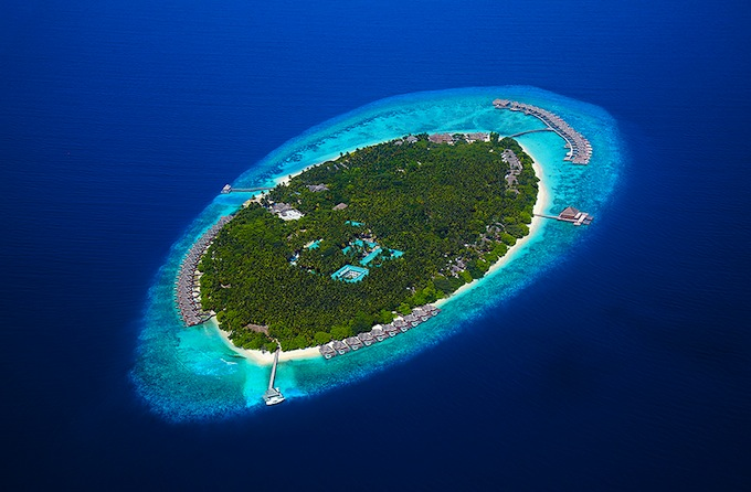 Dusit Thani Maldives... from above