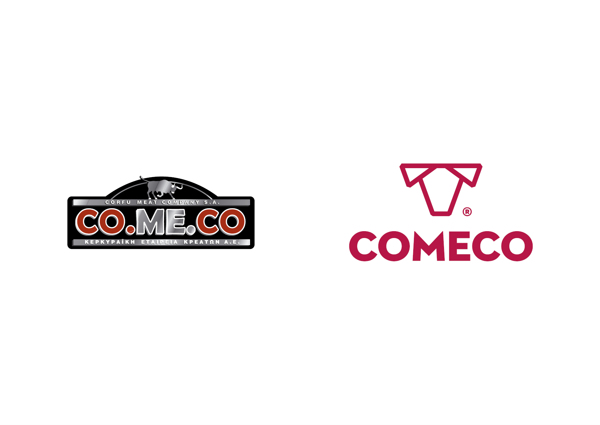 The old logo and the new logo - Comeco