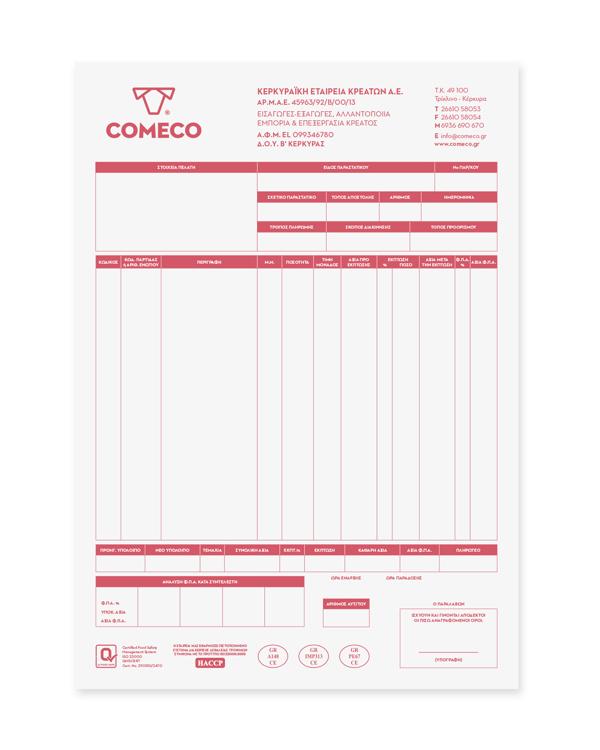 Invoice - Comeco