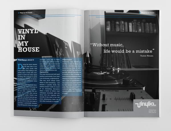 A peek inside the magazine.