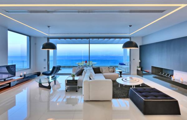 Paleokastro Villa - Interior - living room